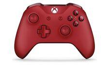 Officiel Xbox One Manette Sans Fil Rouge bon état RRP £ 49.99