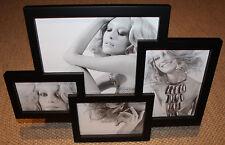 TOMASUCCI Bilderrahmen Collage für 4 Bilder Fotogalerie 36 x 47,5 cm schwarz NEU