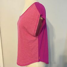 Lucy Athletic Wear Perfectly Posed Top Neonberry Pink Heather Size XS Fitness