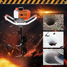 52cc 25hp Gas Powered Post Hole Digger With Earth Auger Digging Engine 40 250mm