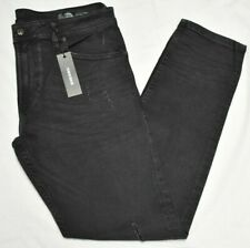 Diesel Jeans Men's Thommer Slim Skinny Fit Distressed Stretch Denim Black Q077