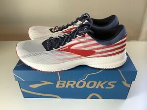 NEW Brooks Launch 6 Stars Stripes Old Glory 4th of July Men's Shoes - Sz 14