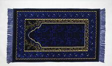 Seccade GEBETSTEPPICH 110cmx68cm Lüks Kadife Blau / Gelb /Schwarz 510 gramm