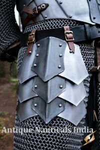 Medieval Tassets Armor with Leather Belt Metallic One Size Full Wearable