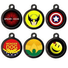 Superhero Pet ID Tags - Captain America - Wonder Woman - Personalised Dog Tags