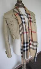 Designer Style Unisex Men's/Women's Tartan Plaid Beige Scarf