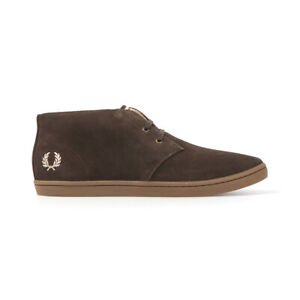 Fred Perry Men's Byron Suede Desert, Chukka Boots Brown Size 6 NEW!