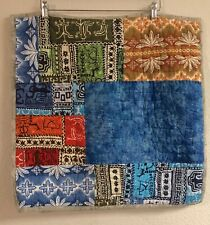 Pottery Barn Teen Quilted Pillow Sham EURO Tropical Hawaii Patchwork NICE! PBK