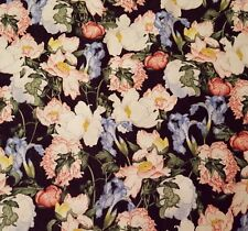 Birdsong BTY Graphic 45 Wilmington Floral Pink Blue Flowers Black