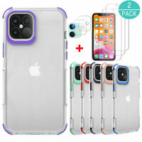 For iPhone 12,12 Pro,12 Pro Max Crystal Case Cover+Screen Protector+Camera Lens