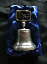 1978 Christmas Bell Crown & Rose Cast Pewter London #1 Partridge in a Pear Tree