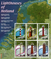 Grenadines Grenada 2002 MNH Lighthouses of Holland 6v M/S Architecture Stamps