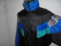 vintage 80s Nylon Jacke oldschool Sportjacke 80er Jahre Trainingsjacke glanz XL