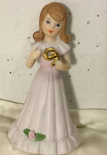 New ListingEnesco Growing Up Birthday Girls 1982 Brunette Age 9 Porcelain Figurine