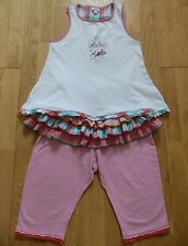 Catimini Super Cute Girls 2-Part Outfit (Top+Leggings) Size 4 yrs (102 cm) EUC!