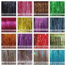 "NEW 20"" / 40"" Sparkling Or Shiny Hair Tinsel 100 STRANDS (Choose Color)US Seller"