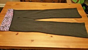 VICTORIA SECRET PINK YOGA BLACK WITH BLACK AND PINK WAISTBAND Small