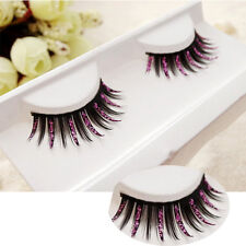 Pink Diamond False Eyelashes Makeup Long Thick stage Cosmetics Club Party Stage