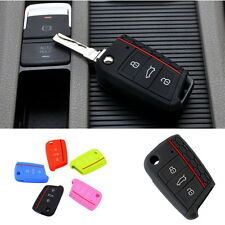 Silicone Car Key Cover Case Flip Key Cap Remote control for Volkswagen Golf 7 B9