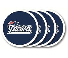 New England Patriots Coaster Set - 4 Pack [NEW] NFL Drink Bar Man Cave Shot