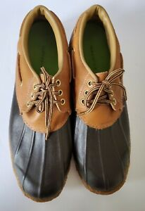 CLARKS SIZE 11 Vintage DUCK SHOES  Muck Leather Rubber Men's Waterproof USA Rare