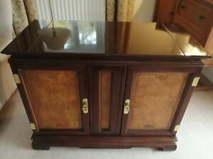 Dark Wood Buffet Sideboard with opening top for serving and cutlery drawers
