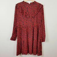 ZARA | Womens Animal Print Ruffle Dress [ Size M or AU 12 / US 8 ]