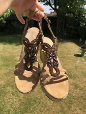 BNIB Fat face Beaded Wedge Sandals Size 7