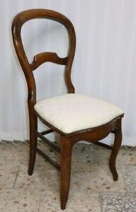 Antiker Stuhl Louis Philippe Mahagoni um1860 //166