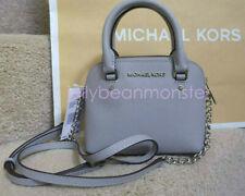 MICHAEL KORS Cindy XS Satchel Crossbody Messenger Bag Purse Dove Grey Gray NEW