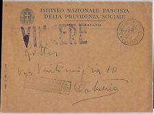ITALIA Regno - storia postale: BUSTA in franchiggia con annullo PROPAGANDA 1943