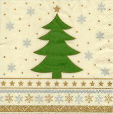 4 Motivservietten Servietten Napkins Tovaglioli Weihnachtsbaum (1023)