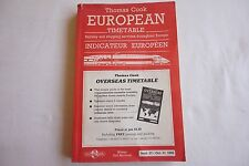 Sept 1998 Thomas Cook Overseas  Continental Timetable Railway Road Services