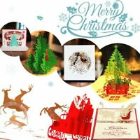 Birthday Merry Christmas Tree Greeting Kids Gift 2019 3D Pop Up Card  Hot Cards