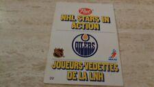 1981-82 Post NHL Stars In Action Pop-Ups #20 Edmonton Oilers Brett Callighen EX