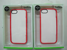 2x QUALITY BELKIN Ruby/Clear View Case for iPhone 5 & iPhone5s F8W153qeC05 [F01]