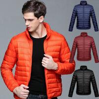 Men's Ultralight 90% Duck Down Coat Jacket Puffer Coat Parka Winter Short Coat N
