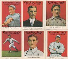1915 REPRINTS Cracker Jack baseball cards lot of 11