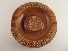 Bergbrauerei Leimen Heidelberg Brown Ceramic Cigar Ash Trash Pottery Wittenkind