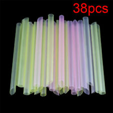 38Pcs Milk Tea Powder Boba Tapioca Pearls Drinking Plastic Straw Bubble Tea Kit