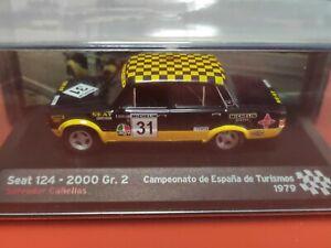 COCHE 1/43, ALTAYA, MODELO SEAT 124- 2000 Gr.2, CAMPEONATO ESPAÑA TURISMOS 1979.