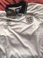 England 1990 World Cup Shirt Gazza 19 Large Gascoigne
