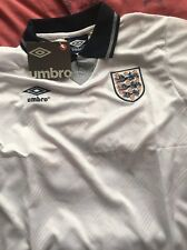 England 1990 World Cup Shirt Gazza 19 Medium PLATINI