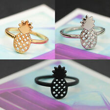 Mini Pineapple Ring Cute Delicate Girl Hollow Alloy Rings Jewelry Decoration