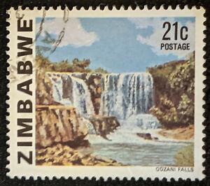 Stamp Zimbabwe SG586 1980 21c Odzani Falls Used