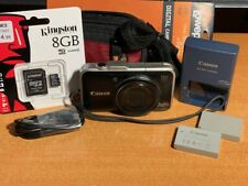 Canon PowerShot SX230 HS 12.1MP Digital Camera - Black + New Case & Card