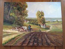 "Dipinto olio su tela ""Paesaggio"" firmato Teurlings 80x60 cm"