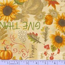 Marcus Fabric - Songbook Harvest Thanksgiving Prayer Sunflower - Cotton YARD