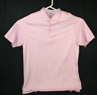 Peter Millar Gold Polo Shirt Men's Size XL Pink with Blue Accents