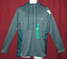 Adidas Climawarm Pullover Hoodie Jacket 1/2 Zip Womens Size XL Green